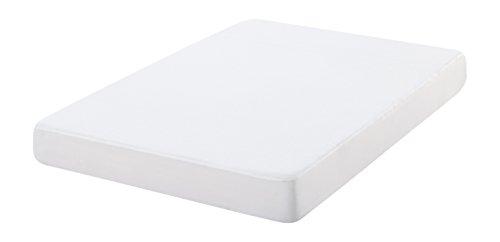 Oasis 12157 - Funda de colchón antiácaros de rizo, 100% algodón, 190 x 90 cm, color blanco