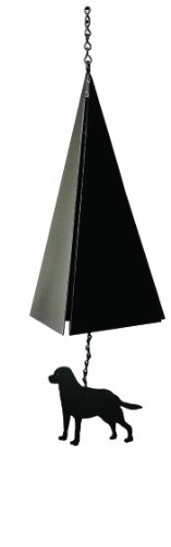 North Country Wind Glocken Nantucket Bell bādgir mit Schwarz lab -