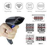 Wireless CCD Barcode Scanner,Handheld USB Barcode Scanner Reader (2.4Ghz Wireless USB2.0 Wired)