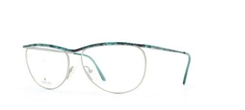 Gucci Damen Brillengestell Grün Green Silver