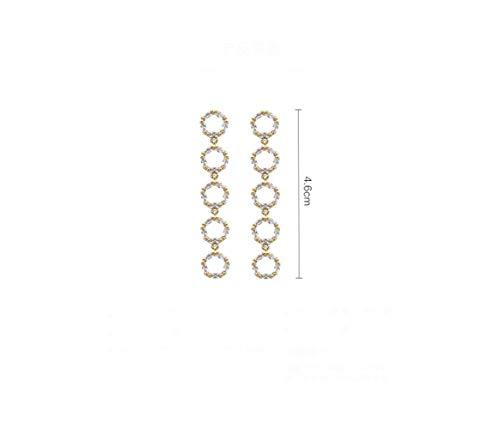 Geometrische Pentagon-Ohrringe für lange Temperament-Ohrclips der runden Gesichts-Frauen ohne durchbohrte Ohrdraht-dünne Ohrringe