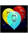 Smiling Face bedruckt 22,9cm illoom Ballons–5Stück
