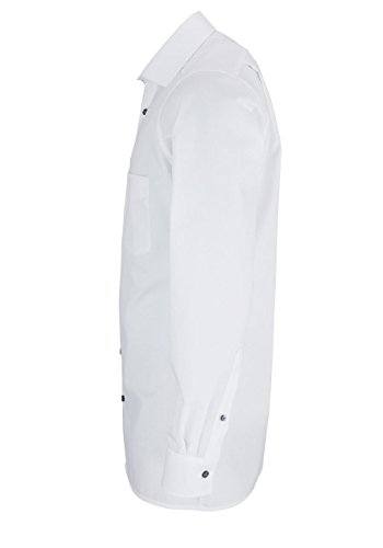 OLYMP Modern Fit Hemd Langarm Popeline weiß Weiß