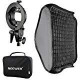 Neewer 80x80cm Difusor Softbox de Rejilla de Nido de Abeja para Flash con Soporte Tipo S y Bolsa para Nikon SB-600,SB-800,SB-900,SB-910,Canon 380EX,430EXII,550EX,580EX II,600EX-RT,Speedlite TT560