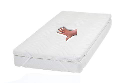 supply24 Gel/Gelschaum Matratzenauflage Topper Höhe 9 cm, 140 x 200 cm, mit Amicor pure Bezug, Auflage für Matratze soft/weich = Schlafen wie auf einem Wasserbett ohne seine Nachteile