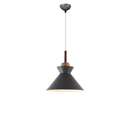 Lyuez Schlafzimmer Arbeitszimmer Kreative Schmiedeeisen Warm Kronleuchter Restaurant Cafe Round Kronleuchter LED-Drei-Kopf Einstellbare Dekorative Kronleuchter (Color : Gray)