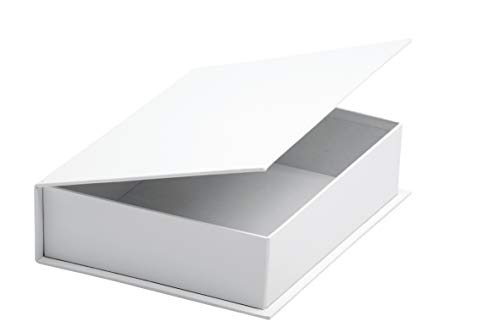 VBS Klappdeckel-Box aus weißem Karton, ca. 14x5x19cm