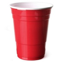 Ruby Apple Red American Party Cups - 16oz (455ml) - Disposable Party Cups - Packs of 50 or 100 (50)