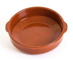 Plat en terre cuite GD Diam. 25 cm – Haut. 6,5 cm – 5/6 pers.