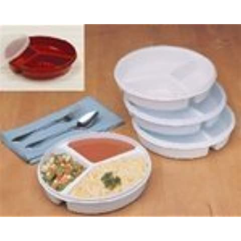 Partitioned Scoop Dish with Lid by Maddak