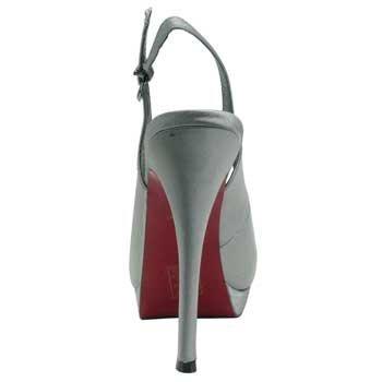 1TO3 - Chaussures pointe découvertes Métallique