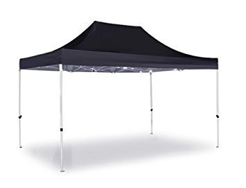 Patio Hybrid (HYBRID Plus 3 m x 4,5 m Pop-Up-Stahl/Aluminium Pavillon - Schwarz)