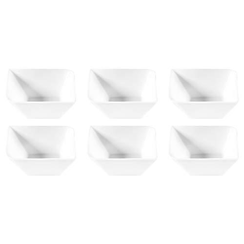 Retsch Arzberg 149973141 'Fantastic' Schale 14 x 14 cm, New Bone China Porzellan, weiß (6 Stück) China 14
