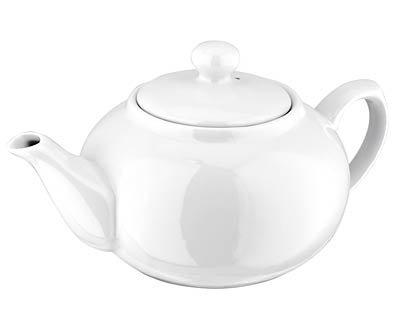 Judge JFY030R Table Essentials Teekanne für 2 Tassen 500 ml, Porzellan, weiß, 15.2 x 15.6 x 11.4 cm