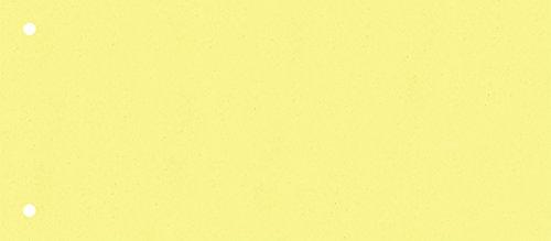 Brunnen 106604010 Trennstreifen (10,5 x 24 cm quer, aus Karton, gelocht, 100 Trennstreifen) gelb