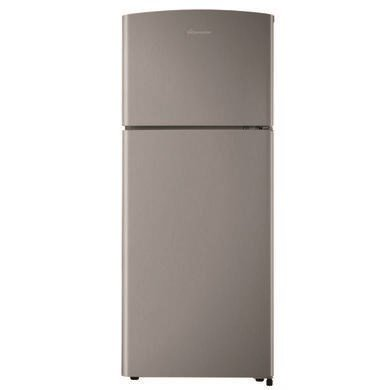 Fridgemaster MTM48120S 8020 18x55cm A-Plus Rated Top Mount Fridge Freezer - Silver