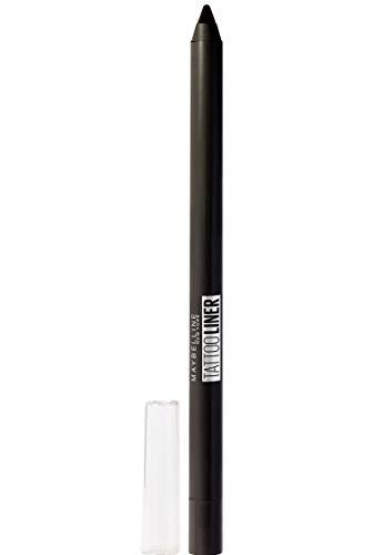 Maybelline Lápiz de Ojos semi-permanente Tattoo Liner 900 Deep Onyx negro, 1.3gr
