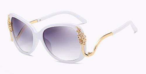Sonnenbrille Schmetterling Sonnenbrille Elegante Damen Oversize Sonnenbrille Uv 400 Weißen Rahmen Doppelter Grauer Gradient Linse