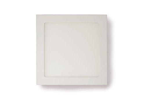 LED Panel, Carré avec 18 W de puissance, Construction de montage, blanc neutre, 22,5 cm – type : Economy aq182 25nws
