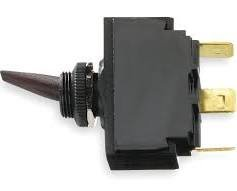 Hubbell Wiring Systems M123MSP Toggle Switch, Single pole, Double Throw, Momentary On/Off/On, 12 VDC, Black -