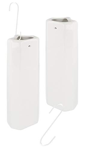 Lantelme 2 piezas de cerámica Heizungsverdunster Rippenheizkörper Set ganchos de metal evaporadores de agua del humidificador radiador 7622