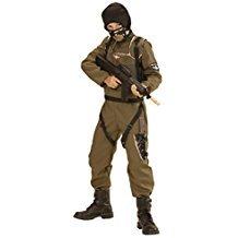 Widmann 49448 - Kinderkostüm Fallschirmspringer Special Forces, Overall, Weste, Kapuze, grün, Größe (Special Forces Halloween Kostüme)