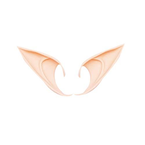 Nowear 1 Paar Elfenohren Cosplay Zubehör Latex Soft Spitz Prosthetic falsche Ohr Halloween-Party-Masken