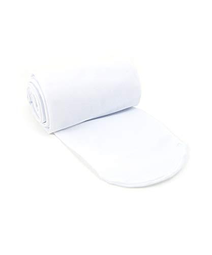 Grouptap Mädchen weiße füßige extrem weiche Haut Balletttanz-Strumpfhosen für Kinder Frauen Erwachsener professionellen Tanz Farbe (Weiß) (Mädchen 11-15 135-150cm)
