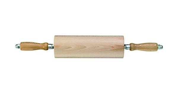 Teigrolle mit Kugellager Wellholz Nudelholz Profiqualität kugelgelagert 35cm
