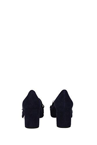 Miu Miu Décolleté Pour Femme - Suede (5i570a) Eu Blue