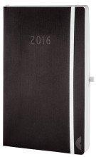 Chronoplan Chronoplan 50924 Buchkalender Chronobook Black Edition A5 Wochenplan 2016, schwarz
