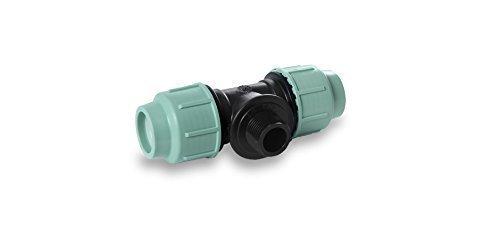 pièce en T, tubulure PE PP Divers vis Tuyaux 20,25,32,40,50,63 mm Tige de boulon différentes tailles - 40 mm x 1 1/4\