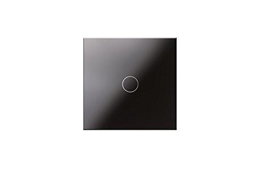 Preisvergleich Produktbild Design Touch Dimmer Lichtschalter mit Glasplatte schwarz