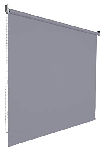 Verdunkelungsrollo Rollo Vorhang Fenster Kettenzugrollo Seitenzugrollo viele Farben Breite 60-200 cm Höhe 180 cm Stoff lichtundurchlässig verdunkelnd Metall Halter (Größe 200 x 180 cm Farbe Grau)