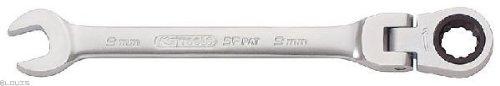 KS Tools 503.4718 Clé mixte à cliquet et tête inclinable 72 dents 18 mm