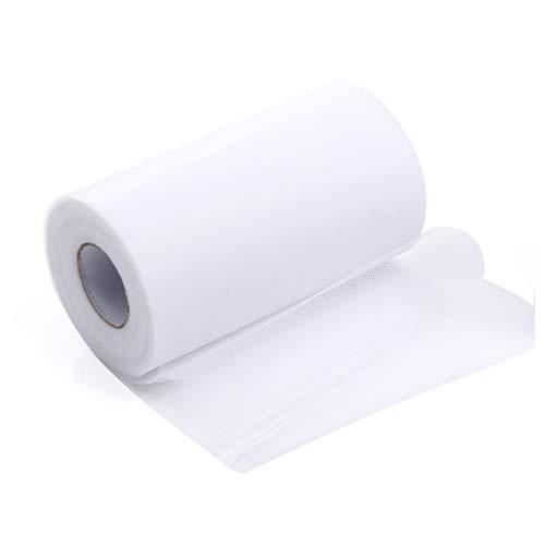 ZADAWERK® Tüll - 15 cm x 45 m - Weiß - 1 Rolle - Tisch-Deko - Hochzeit