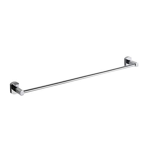 Ccjw porta-plafoniera in alluminio, porta-asciugamani singolo, accessori per il bagno appendino-23,62 pollici, cromato