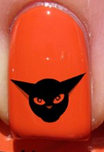 Halloween Chat bizarre - Stickers pour ongles YRNAILS