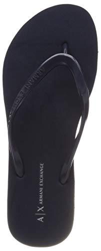 Armani exchange rubber slide, infradito donna, blu (navy 00285), 39 eu