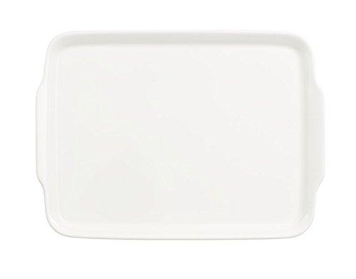 Villeroy & Boch Royal Serviertablett, Premium Bone Porzellan, Weiß