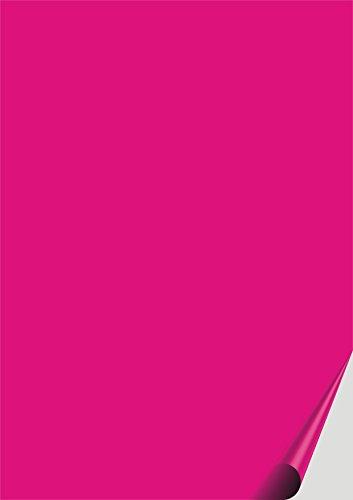 das-label DIN A4 selbstklebende Vinylfolie pink | OUTDOOR glänzend | zum Basteln Scrapbook | Vinylfolie zum Einlegen in Plotter | Sticker |...