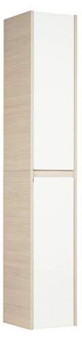 Fackelmann 83453 Hochschrank Viora, 2 Türen, Türanschlag links, 4 Glaseinlegeböden, BxHxT: 30 x 175 x 34 cm