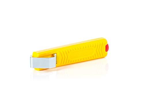 Jokari T10272 Couteau de câble No. 27, 8-28 mm, Jaune