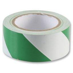 Kleber Hazard Kennzeichnung grün weiß 50mm x 33m