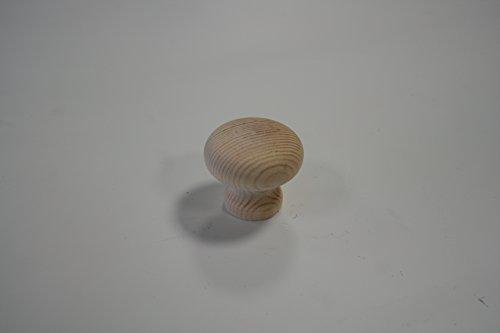 Knopf Möbelknopf Schrankknopf Holz Fichte natur DM = 35mm H = 45mm