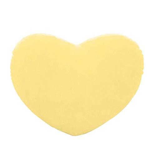 Gespout peluche ripiene forma di cuore carino cuscino cuscino bambola per natale compleanno regalo di san valentino(giallo)