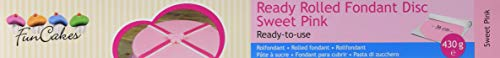 FunCakes Pasta di Zucchero Rosa Già Stesa - 430 gr