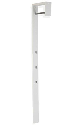 Garderobenpaneel Wandgarderobe Flurgarderobe MINKA 1 | Weiß Hochglanz | 3 Kleiderhaken