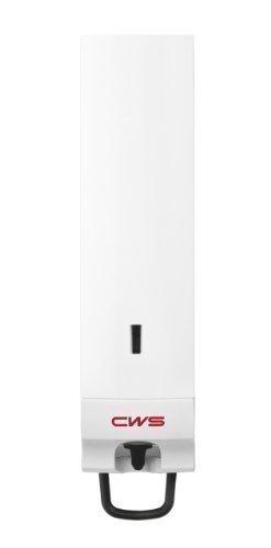 CWS Seifenschaumspender Paradise Foam Slim 500 mit Easy-Cleaning und Click-in-Bottle System, mit Schloss und Einhandzughebel, für 500 ml, weiß
