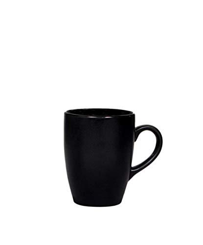 S&E's Ceramic Matt Design Microwave Safe Coffee Mug (Matte Black)